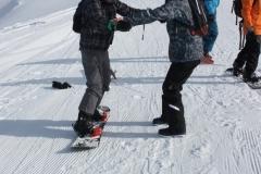 Les van de snowboardleraar